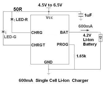 Ec49017 Standalone Linear Lithium Battery Charger E Cmos