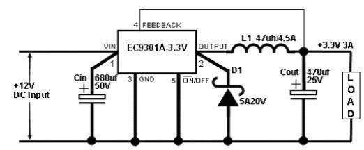 ec9301a  u2013 3a 150khz pwm buck dc  dc converter  u2013 e